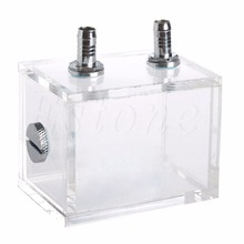 For CPU Water Cooling Square Acrylic Water Cooled Brushless Pump Tank 200ml Capacity