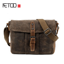 Buy AETOO CLeather men bag shoulder bag retro fashion leisure men bag business men's shoulder Messenger bag for $33.33 in AliExpress store