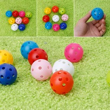1Pcs Hollow Colorful Golf Balls Kids Playing Toy Indoor Outdoor Training(China)