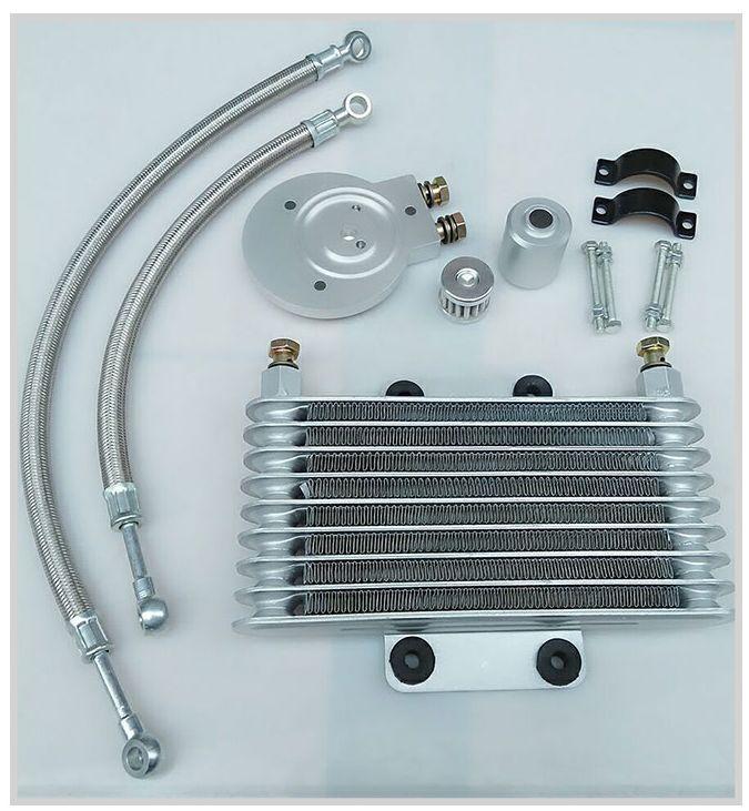 Motorcycle Oil Cooler Oil Engine Radiator SYSTEM FULL SET For LIFAN LF250-B QJIANG QJ250-J YAMAHA XV125 XV250<br><br>Aliexpress