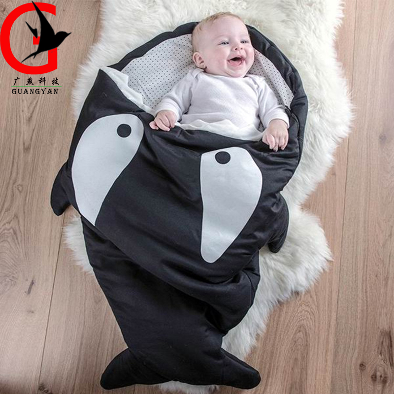 Autumn &amp; winter inside &amp; outside cotton baby shark sleeping bag Child infant baby sleeping bag baby anti-kick quilt MD-SYBB-01<br>