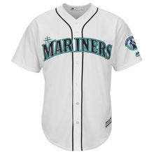MLB Men's Seattle Mariners Baseball White Griffey Retirement Day Patch Cool Base Team Jersey(China)