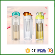 Tea Infuser Bottle Fruit Infuser Water Bottle Thermal Bottle Fruit Filter Bouteille Infuseur Tea Plastic Glass Water Bottle 0.3L