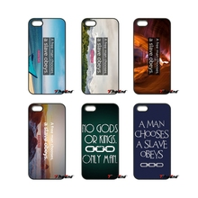 For iPod Touch iPhone 4 4S 5 5S 5C SE 6 6S 7 Plus Samung Galaxy A3 A5 J3 J5 J7 2016 2017 man chooses a slave obeys Case Cover