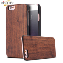 KISSCASE iPhone 6 6s Plus 7 Bag Bamboo Wooden Case 6S Natively Rosewood Phone - Trendycase Store store
