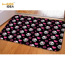 HUGSIDEA Cool Skull Printing Living Room Kitchen Bedroom Floor Carpet Tapetes Para Casa Non-slip Home Carpets Rugs Cuisine Door