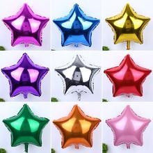 "5pcs/lot Wedding Balloon Decoration 10""/18"" Star/Heart Foil Helium Balloons Birthday Wedding Birthday Party Decor 7ZQQ006-18(China)"