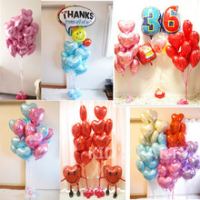 High Quality 1pc 18'' Heart Balloon Valentine day Wedding Decorations happy birthday party supplies Heart Star love foil ballon