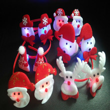 Christmas Lighting LED Head Hoop Red Christmas Decoration Lights Flash Light Birthday Neon Party Dance Celebration Supplies(China)