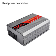 SUVPR 1000w 12v/24v to 220v car full power inverter convertidor auto voltage converter adapter with two universal output socket