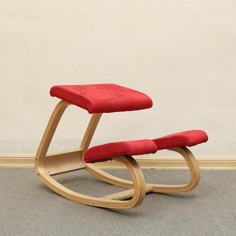 Original Ergonomic Kneeling Chair Stool Home Office Furniture Ergonomic Rocking Wooden Kneeling Computer Posture Chair Design