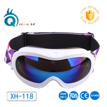 Free shipping Children snowboard goggles kids Ski goggles Snow Goggles Eyewear Protective UV400 Anti-Fog Child skiing glasses