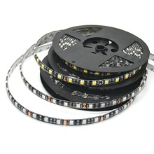 LED Strip 5050 Black PCB DC 12V Flexible LED Light 60 LED/m 5m/lot RGB/white/Warm white/Red/Green/Blue  5050 LED Strip