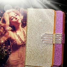 Original Bling Glitter Phone Case Cover Fundas for Iphone 3 3g 3gs Flip Cell Phone Cases Wallet Back Covers Kickstand