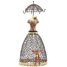 princess skirt jewelry stand jewelry holder jewelry hanger Coffee(China)