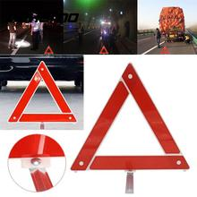 Vehemo Car Sets Hazard Breakdown Warning Board Red Reflective Triangle Road Sign(China)
