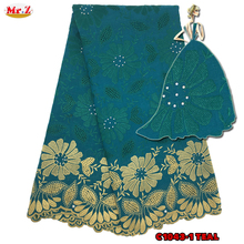 Mr.Z 2017 Eyelet Swiss Voile Lace Fabric With Stones Soft Embroidery Men Dry Voile Lace Materials In Switzerland 5Yards C1043(China)