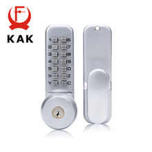 KAK Zinc Alloy Combination Mechanical Digital Door Lock No Power Push Button Code Locks For Home Security Furniture Hardware(China)