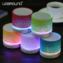 New Portable Mini LED Bluetooth Speaker Wireless Small Music Audio TF USB FM Light Stereo Sound Speaker For Laptop Phone MP3(China)