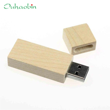 U Disk Top Quality New Arrival 32GB Long Wood High Speed USB2.0 Flash Storage Drive Memory Stick de u Khaki Gift 17May17