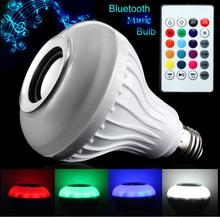 E27/B22 LED RGB Bluetooth Speaker Bulb Wireless 12W Power Music Playing Light Lamp