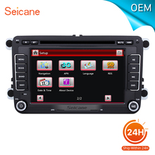 seicane 2 din Universal Radio DVD Player GPS Navigation for 2009-2013 VW Volkswagen BORA Support Aux USB SD card With CANBUS(China)