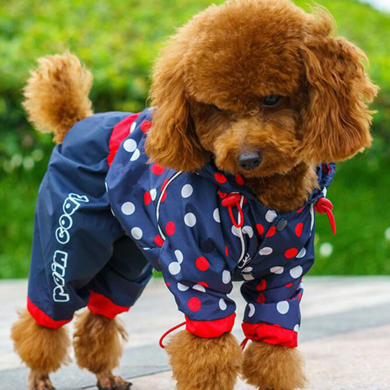 Pet Dog Raincoat for Small Medium Dogs Waterproof Rain Coat Outdoor Clothes Dog Jacket Puppy Teddy Outfits Dog Clothes 7