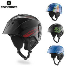ROCKBROS Ski Helmet CE Certification Safety Skiing Helmets Snowboard Winter Chlid Adult Thermal Ultralight Skateboard Head Wear(China)