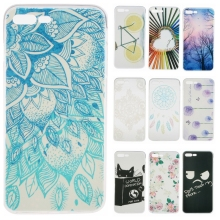 URMWING Soft TPU Cute Cartoon Phone Cases for Apple iPhone 7 Plus Slim Rubber Back Cover Silicon Gel Cover Fundas for iPhone7 Pl
