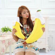 1pc 45cm High Quality PP Cotton Skinned Banana Pillow Creative Plush Toy Cushion Gift for Girls