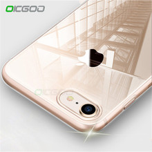 OICGOO Ultra Thin Soft Transparent TPU Case For iPhone 8 8 7 Plus 7 Clear Silicone Full Cover For iPhone X Case 6 6S Plus Cases(China)