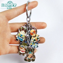 Halder League of Legends Heroes LOL Characters Keychains Competitive Online Games Enthusiasts Blind Monk Lee Sin Pendants