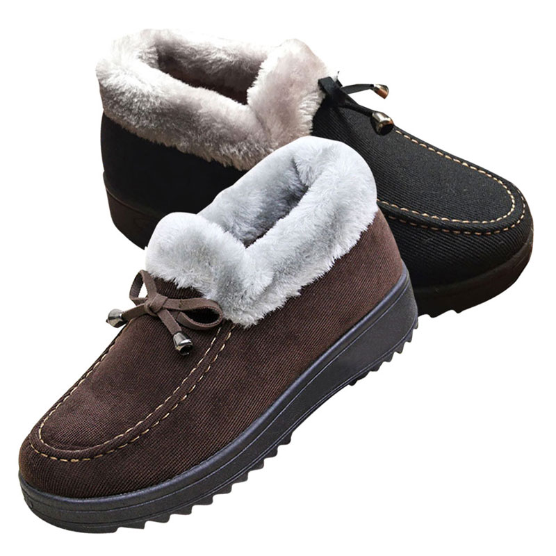 New Winter Non-slip Cotton-padded Warm Cotton Shoes Women Indoor\\ Floor Outdoor Thicken Warm Slippers Flat Shoes WS184<br><br>Aliexpress