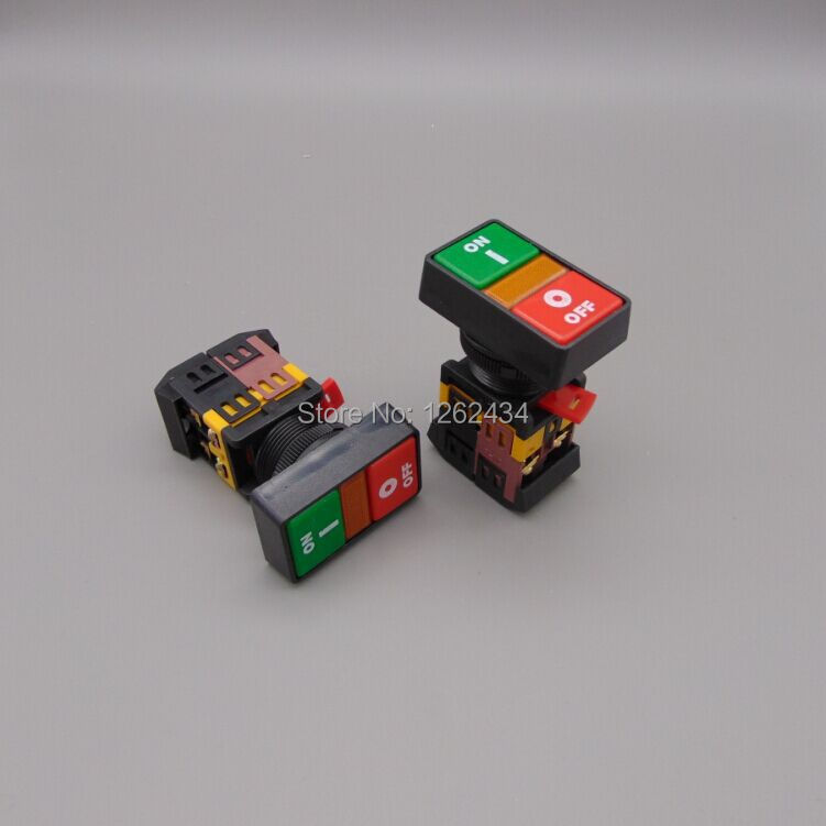 PPBB-30N Start-stop Double Pushbuttons Switch With LED Lamp(Mounting hole 30mm)(DC 6/12/24/36/48 V AC110/220/380V)<br><br>Aliexpress