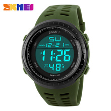 Buy SKMEI Popular Men's Quartz Watch Luxury Brand Men Military Sports Watches Waterproof Fashion Outdoor Digital Sport Wristwatches for $10.99 in AliExpress store