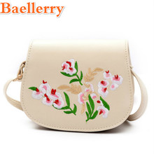 Baellerry Graceful Sac Embroidery Women's Handbags Good Quality Girl's Crossbody Bags Floral Mini Shoulder Bags Designer Bolsas(China)