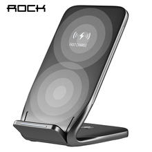ROCK Qi Wireless Charger For iPhone X 8 10 Samsung Note 8 S8 Plus S7 S6 Phone Fast Wireless Charging 10W Docking Dock Station(China)