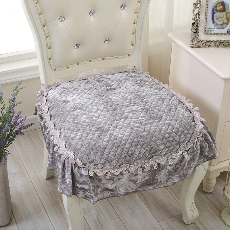 Custom Shipping Spring Thin Diamond Quilted Velvet Chair Cushion Special Offer Dining Stool