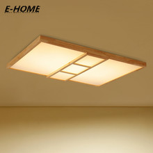 Modern Simple Bedroom led Japanese Wooden Living Room Lamp Nordic Solid Wood Ceiling SMD5730 110-240V indoor Light