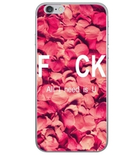 hot Rose petal all i need is u clear TPU cases for iphone 6s case iPhone SE 5 5s 6 6s plus +freeshipping(China)