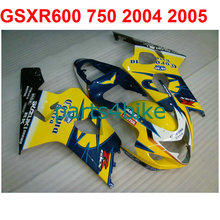 Bodywork gsxr 600 Fairing kit For Suzuki 750 2004 2005 04 05 ( Yellow&balck) fairings free Windscreen m26
