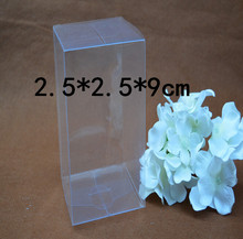 Size:2.5*2.5*9cm clear packaging boxes wholesale clear plastic shoe packing boxes plastic pvc clear boxes 30pcs/lot(China)