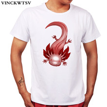 VINCKWTSV 2017 new Design cute animal  red Dragon fish imagination Summer T-shirts