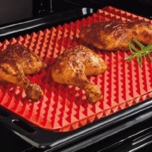 TV Direct Original Healthy Chef Raised Baking Sheet Silicone Roasting Mat 39*27*1cm(China)