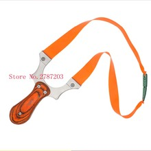 304 Stainless Steel +wood Slingshot Metal Sling Shot Catapult Shooting Hunting Red Color Professional Powerful(China)