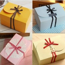 10 pcs 15.5*10.5*8.5cm many color  Pink card cake box  Cardboard Box ,Gift Box, Cake Box