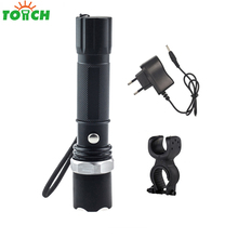 2000LM 3 Mode Q5 Tactical Torch Hand Waterproof Led Portable Spotlight Rotating Focus Bike Flashlight for Cycling Camping(China)