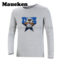Men Dallas #88 Dez Bryant Autumn Winter T-Shirt Long Sleeve Tees T SHIRT Men's Signature W1123027(China)