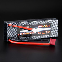 High Quality Reachargeable Lipo Battery Giant Power 7.4V 6000mAh 2S 65C Lipo Battery T Plug Hardcase Pack For RC Model