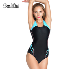 Buy Sport Swimsuit Women's Bodysuit Plus Size Swimwear Athletic Triangle One Piece Bathing Suit Women Monokini Swimsuits 3XL for $12.56 in AliExpress store